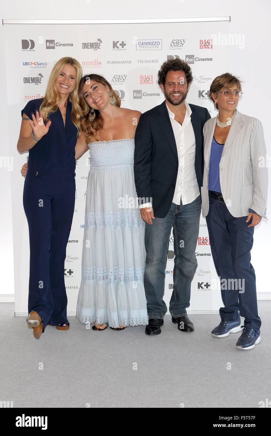 72nd Venice Film Festival - 'Ancora un' altra storia' - Photocall  Featuring: Michelle Hunziker, Giulia - Stock Image