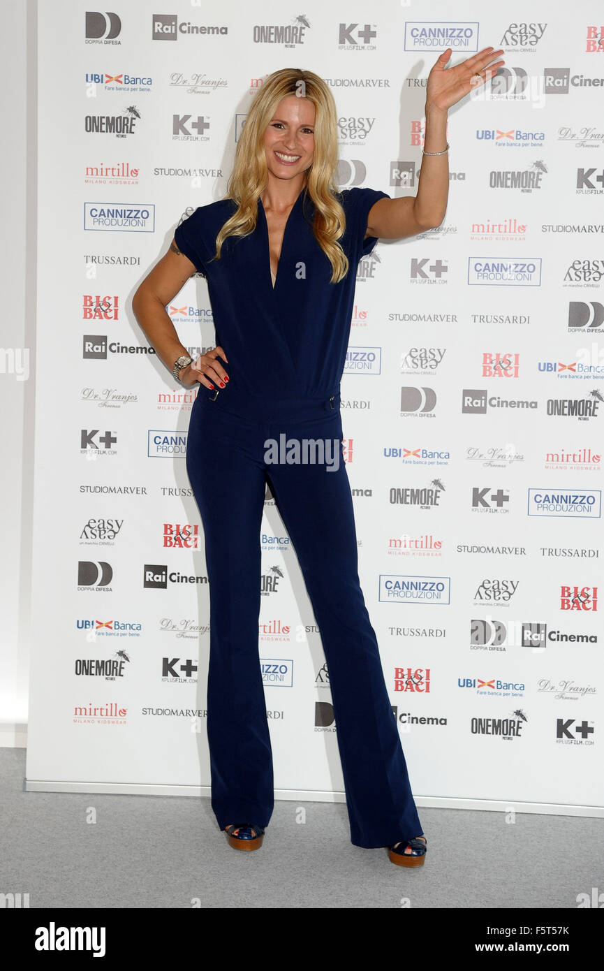 72nd Venice Film Festival - 'Ancora un' altra storia' - Photocall  Featuring: Michelle Hunziker Where: - Stock Image