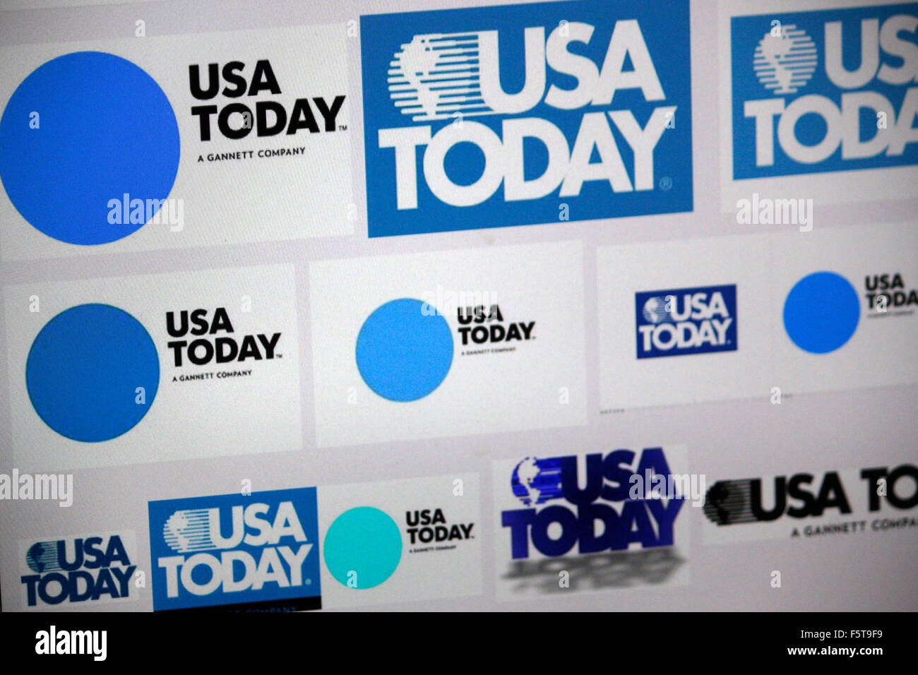 Markenname: 'USA Today', Berlin. - Stock Image