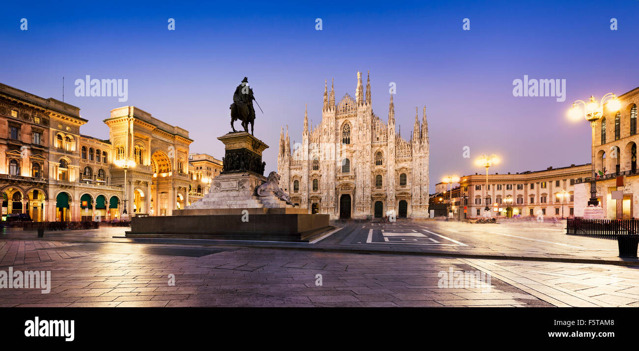 Duomo at sunriset Milan, Europe. - Stock Image