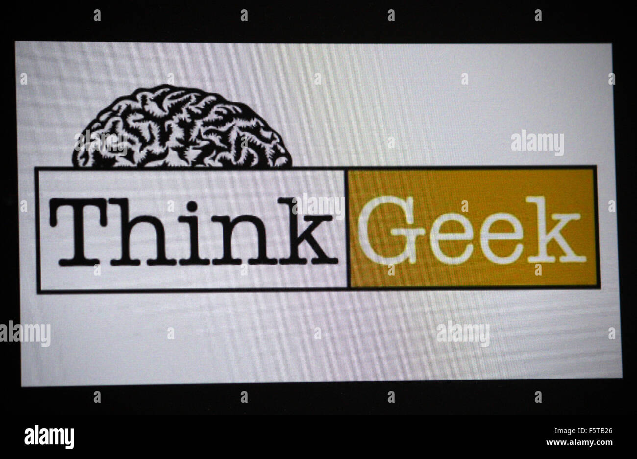 Markenname: 'Think Geek', Berlin. - Stock Image
