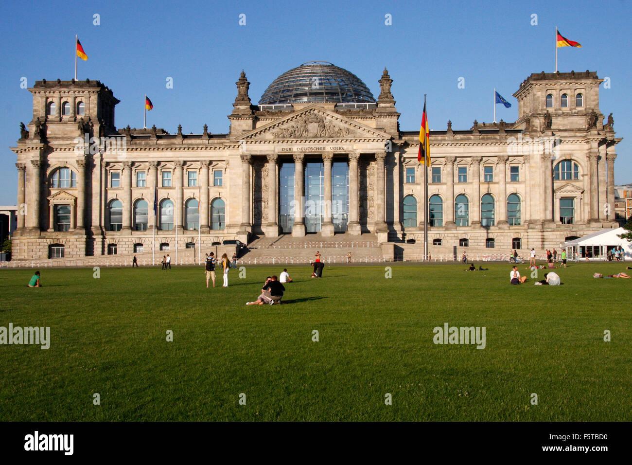 Reichstag, Berlin-Tiergarten. - Stock Image