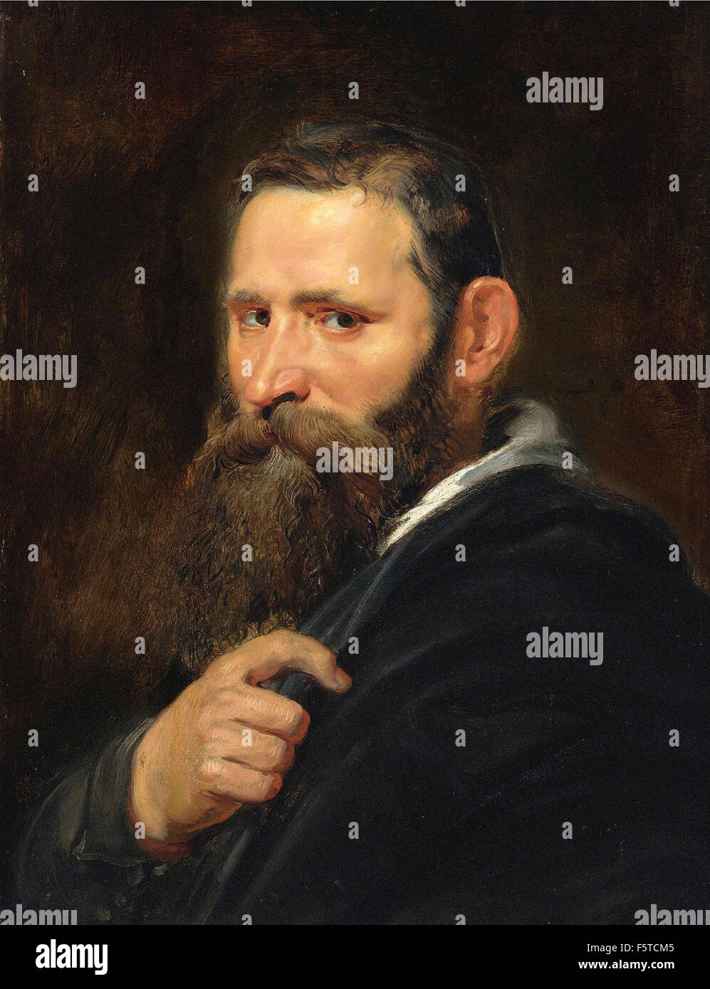 Peter Paul Rubens - Head of a Bearded Man - Stock Image