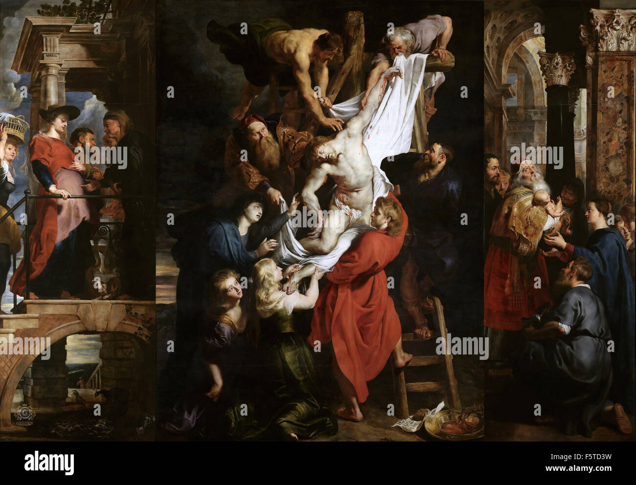 peter paul rubens the descent from the cross stock photo 89662269