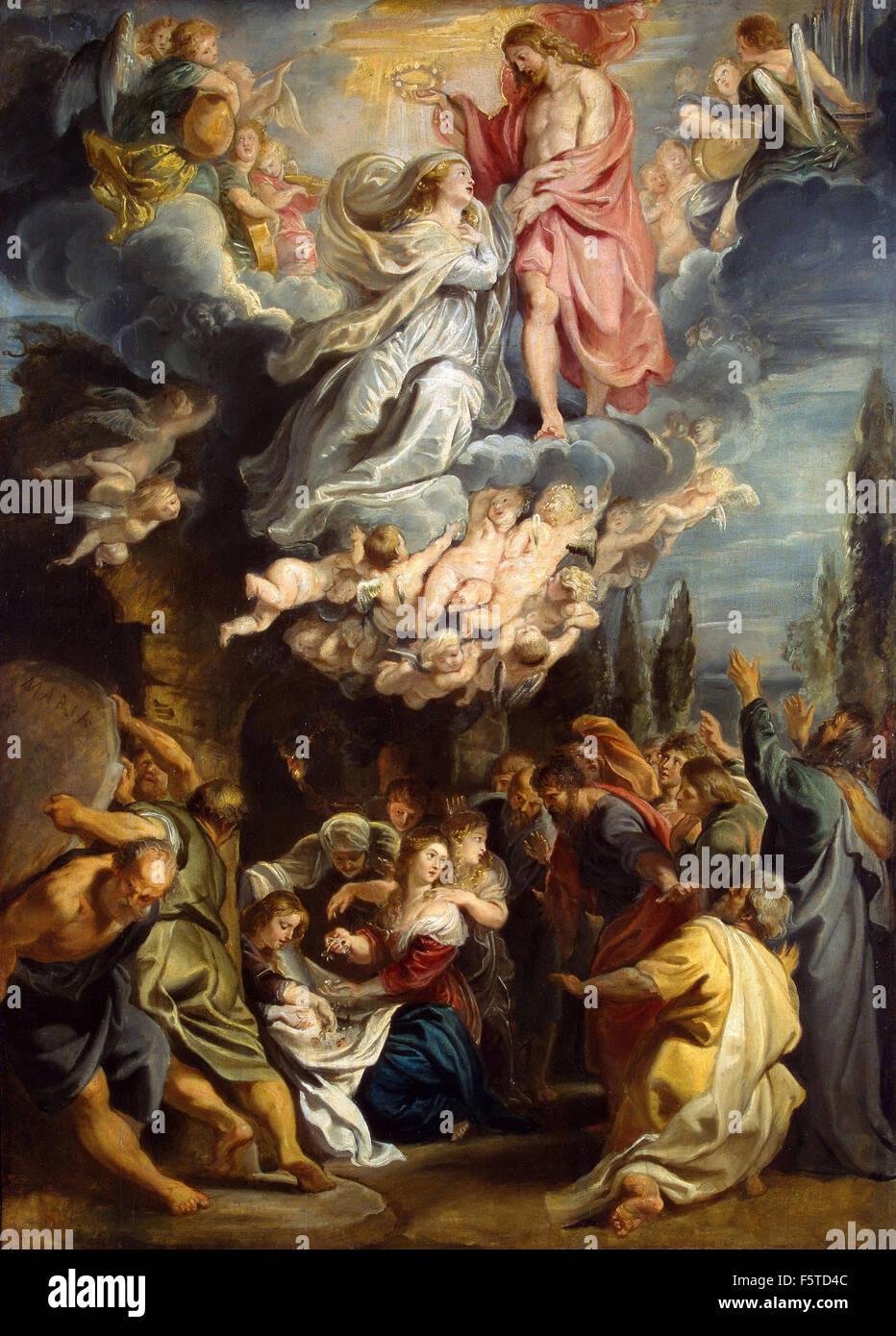 Peter Paul Rubens - Coronation of the Virgin - Stock Image
