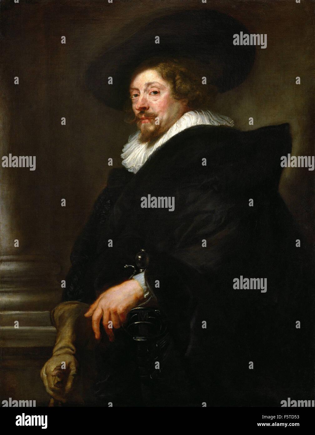 Peter Paul Rubens - Self portrait 60 - Stock Image