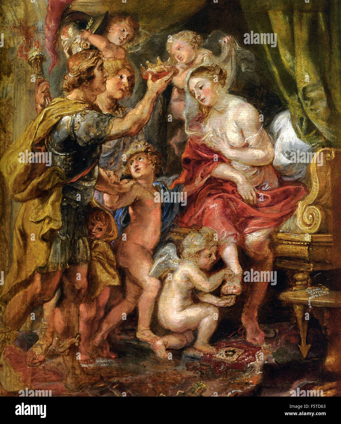 Peter Paul Rubens - Alexander and Roxana - Stock Image