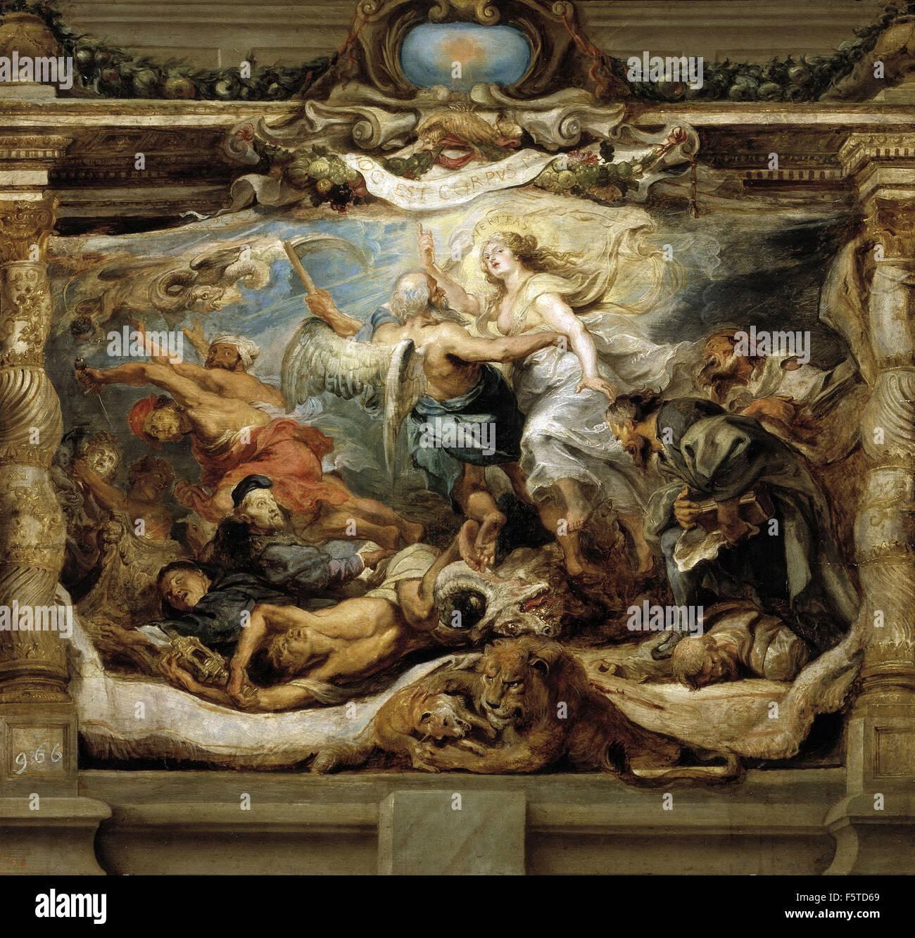 Peter Paul Rubens - La victoria de la Verdad sobre la Herejía - Stock Image