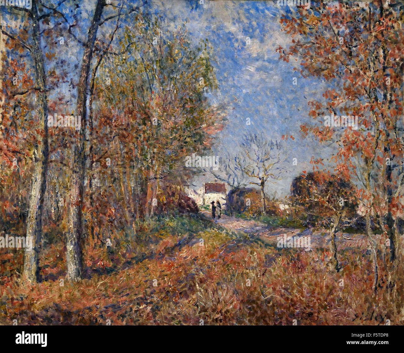 Un coin de bois aux Sablons - A piece of wood with Sablons 1883 Alfred Sisley 1839 -1899 British / France French - Stock Image