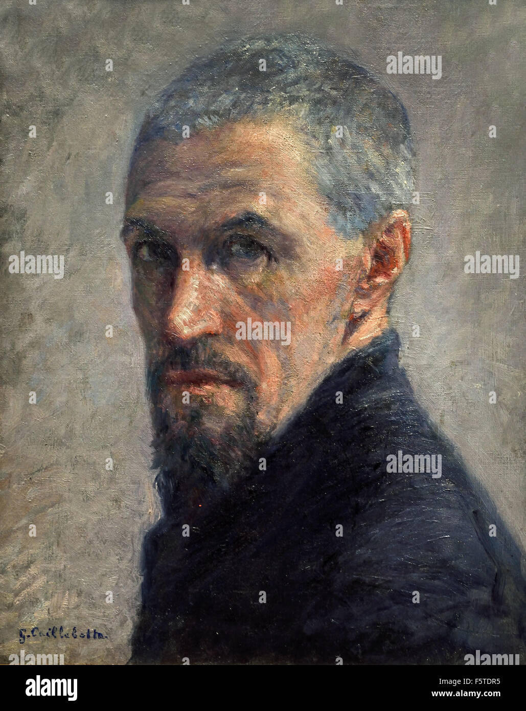 Self Portrait 1892 Gustave Caillebotte 1848 - 1894 France French - Stock Image