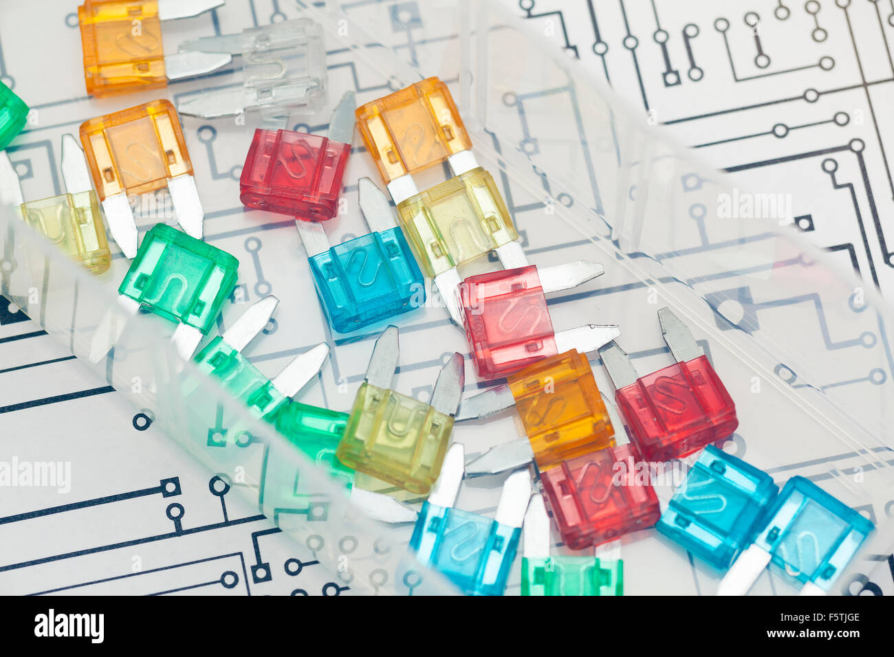 Car Fuse Stock Photos Images Alamy Ge Box Pull Outs Detail Of Fuses And Electronic Circuit Image