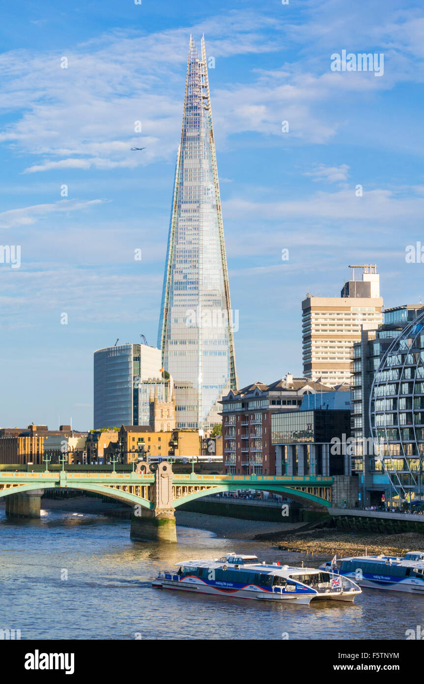 The Shard London City of London South bank southwark England UK GB EU Europe - Stock Image