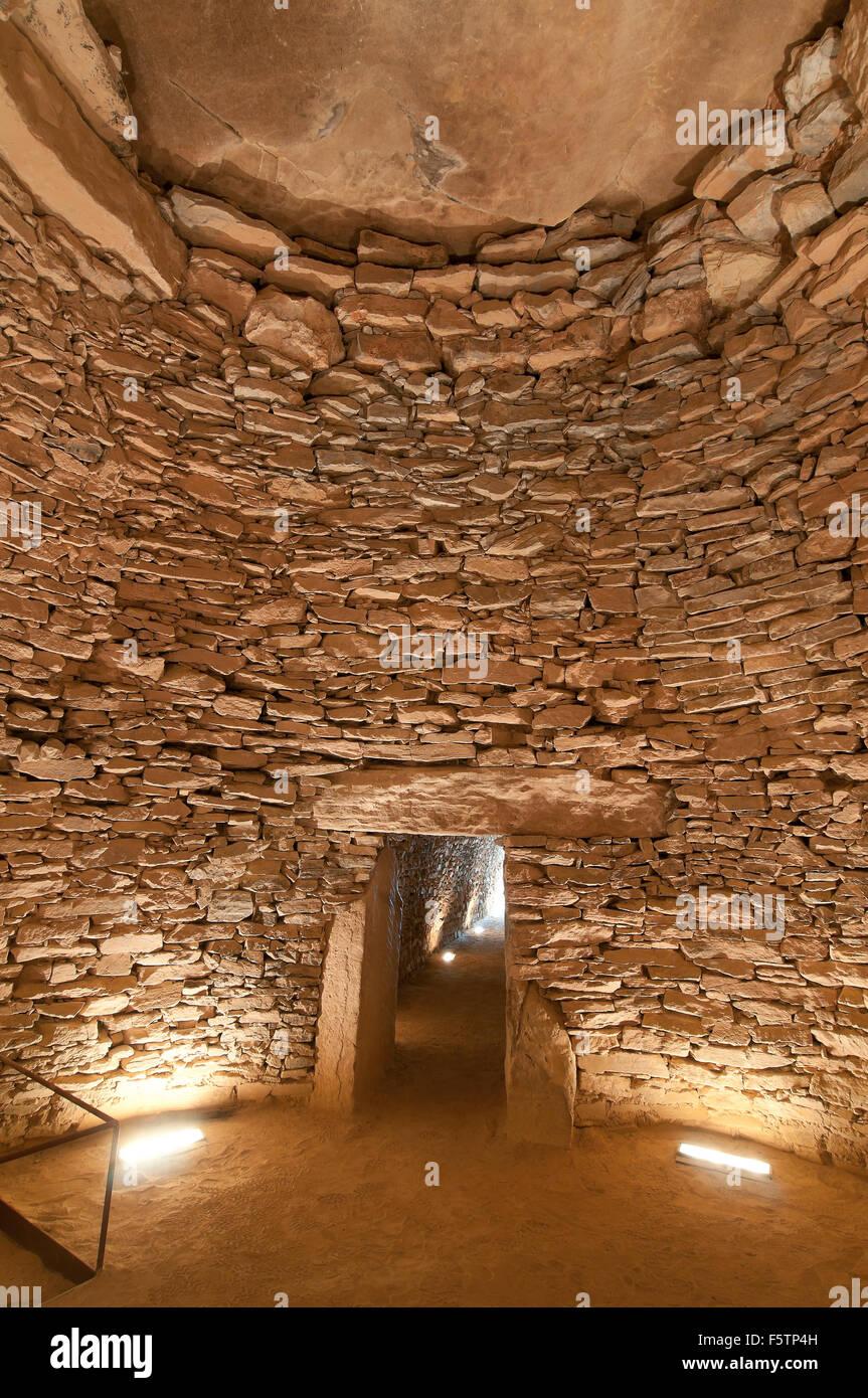Dolmen El Romeral (1800 BC), Antequera, Malaga province, region of Andalusia, Spain, Europe - Stock Image
