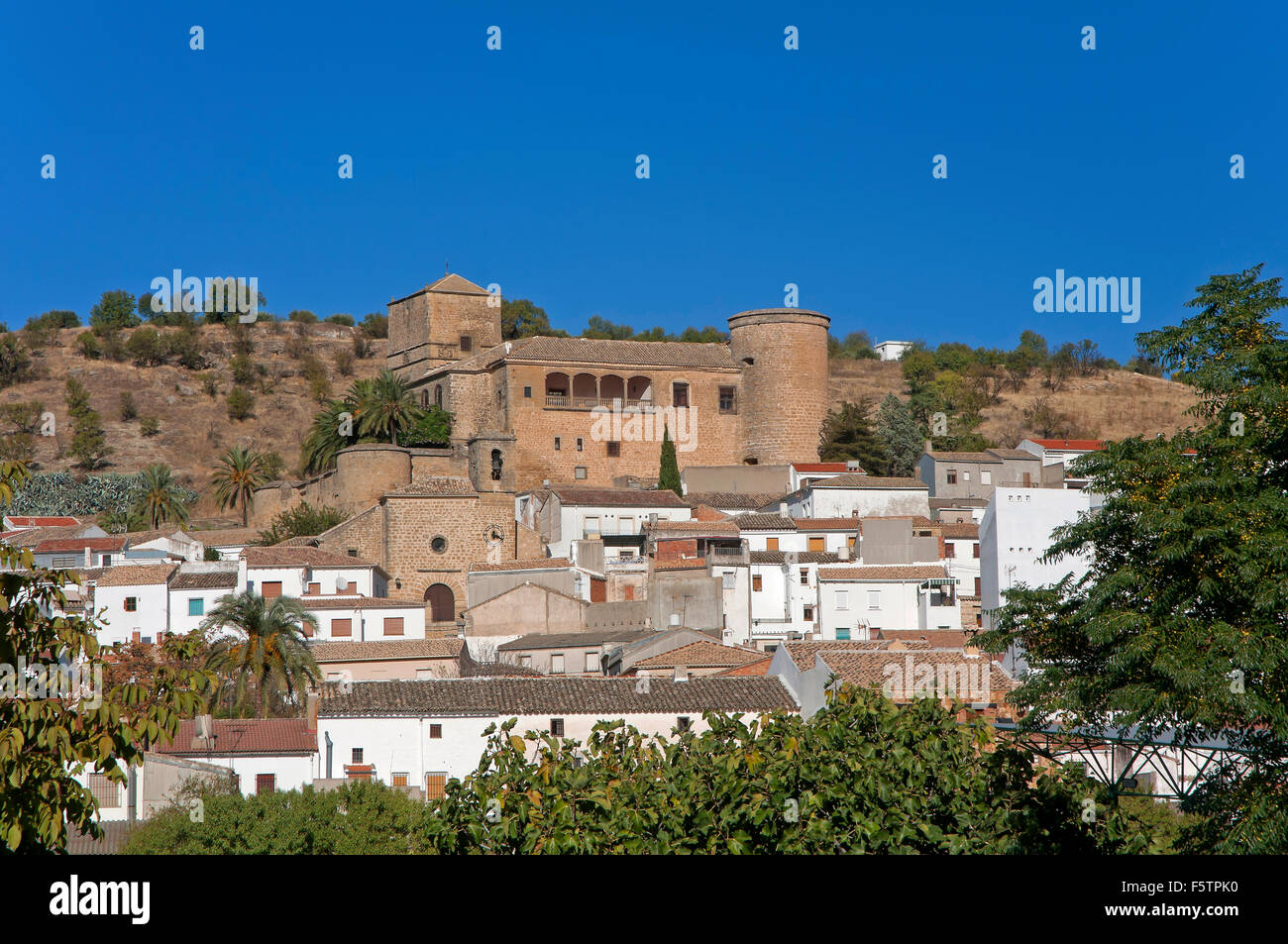 Castle and town, Canena, Jaen province, Region of Andalusia, Spain, Europe - Stock Image