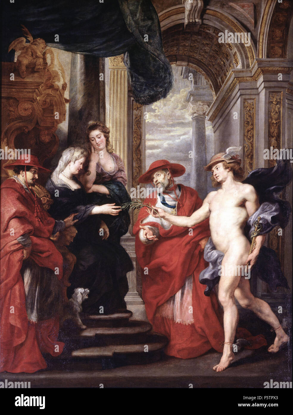 Peter Paul Rubens - The Reconciliation of Marie de Medici with her Son Louis XIII - Stock Image