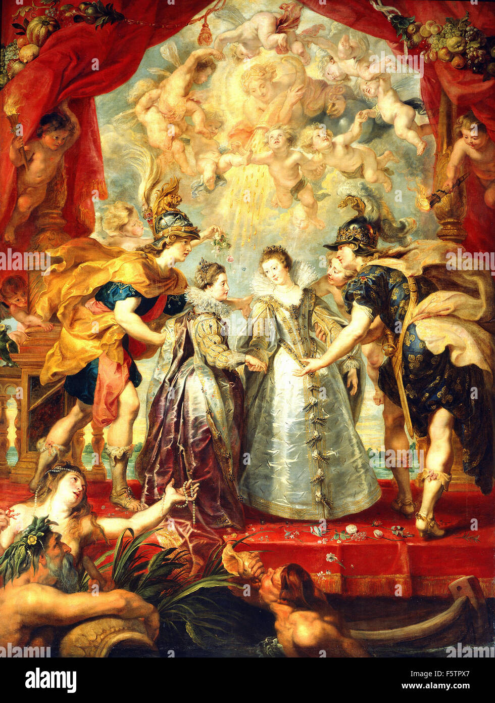 Peter Paul Rubens - Exchange of Two Princesses from France and Spain - Stock Image