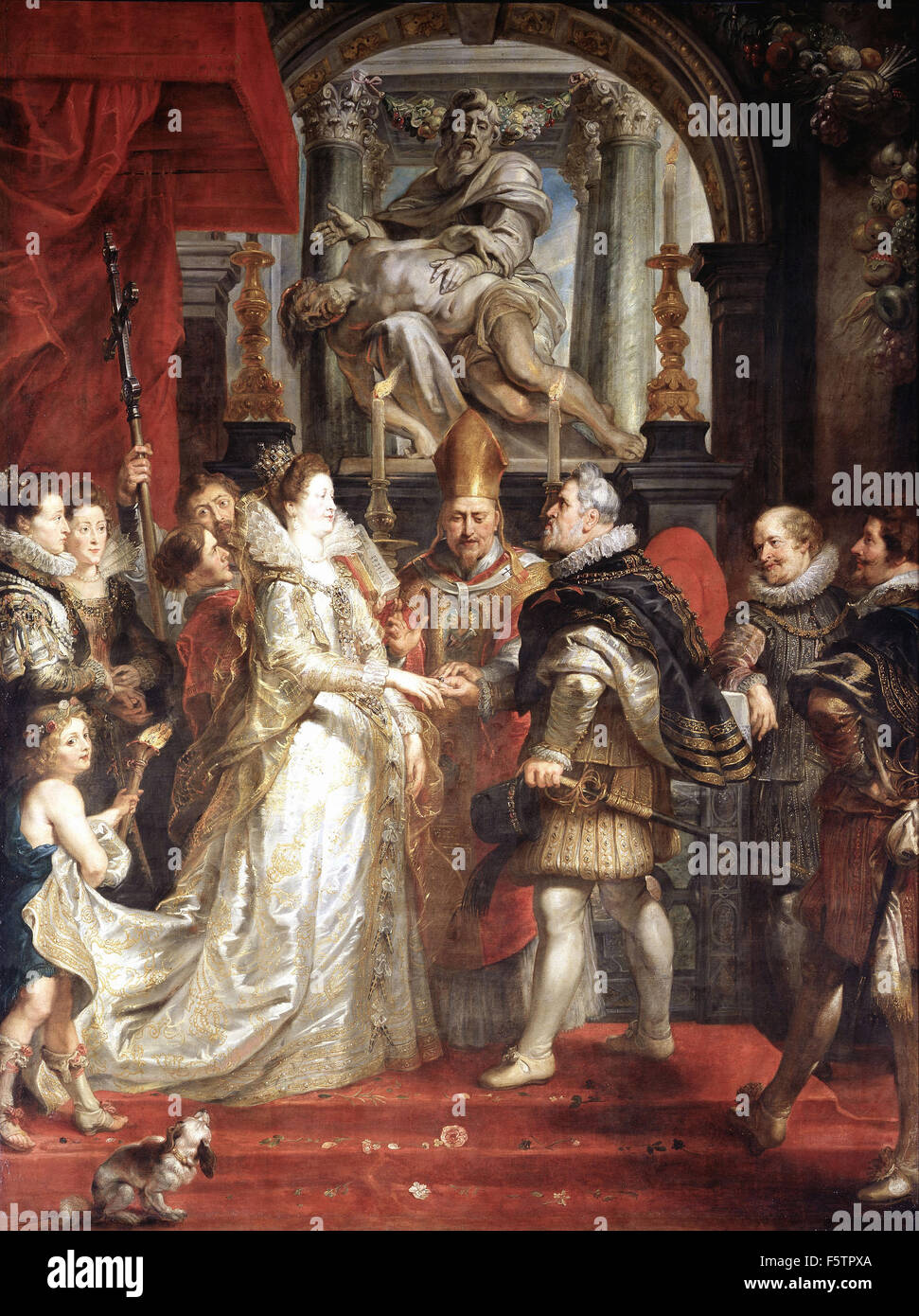 Peter Paul Rubens - The Marriage  of Marie de Medici and Henri IV in Florence - Stock Image
