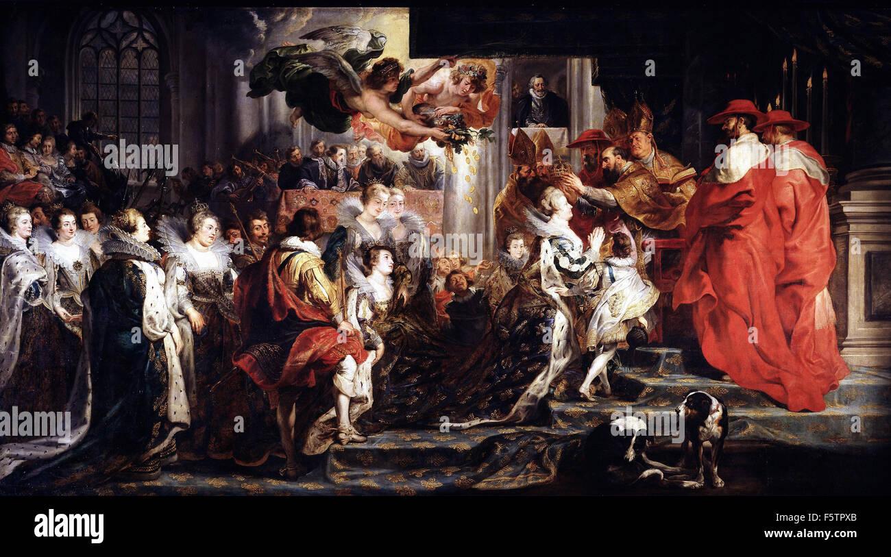 Peter Paul Rubens - Coronation of Marie de Médicis - Stock Image