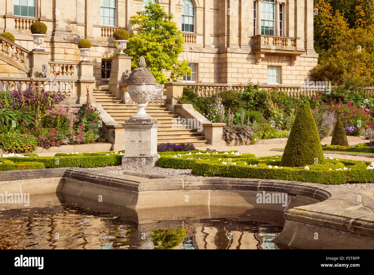 The Terrace Garden at Harewood House in West Yorkshire, UK. One of ...