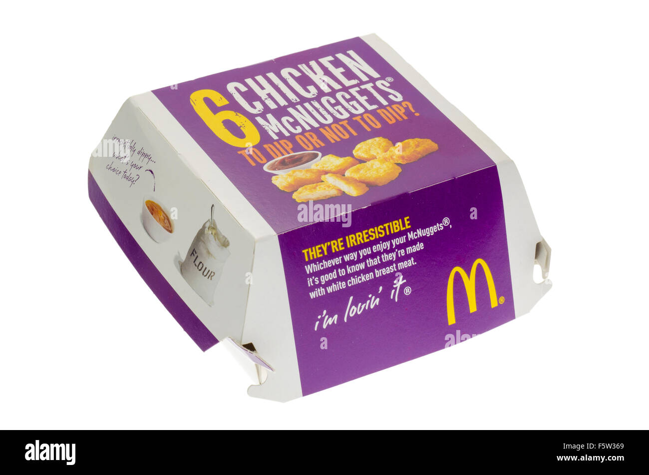 Box of McDonald's Chicken Nuggets or McNuggets Fast Food - Stock Image