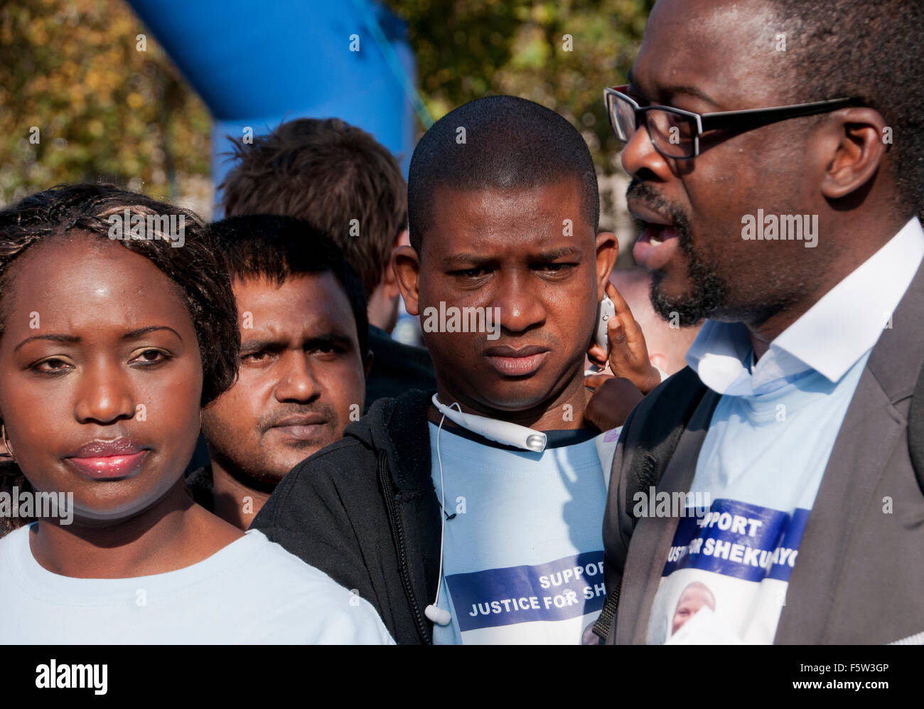 Friends and families of those who Died in Police Custody march trough London Death in Custody Campaign - Stock Image