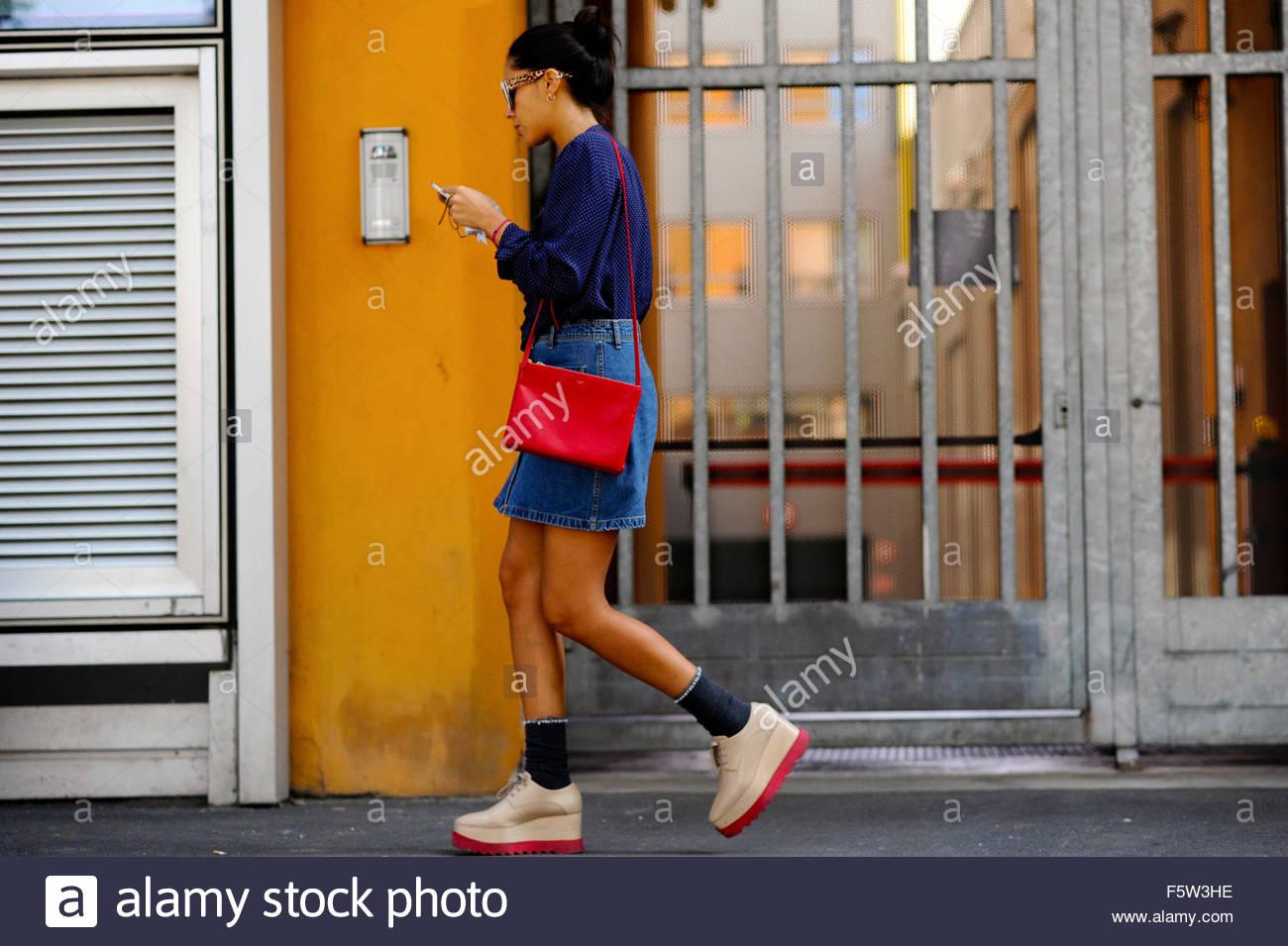 After Dazy Shely, SS16 Via Bergognone, Milan Fashion Week Italy 2015. - Stock Image