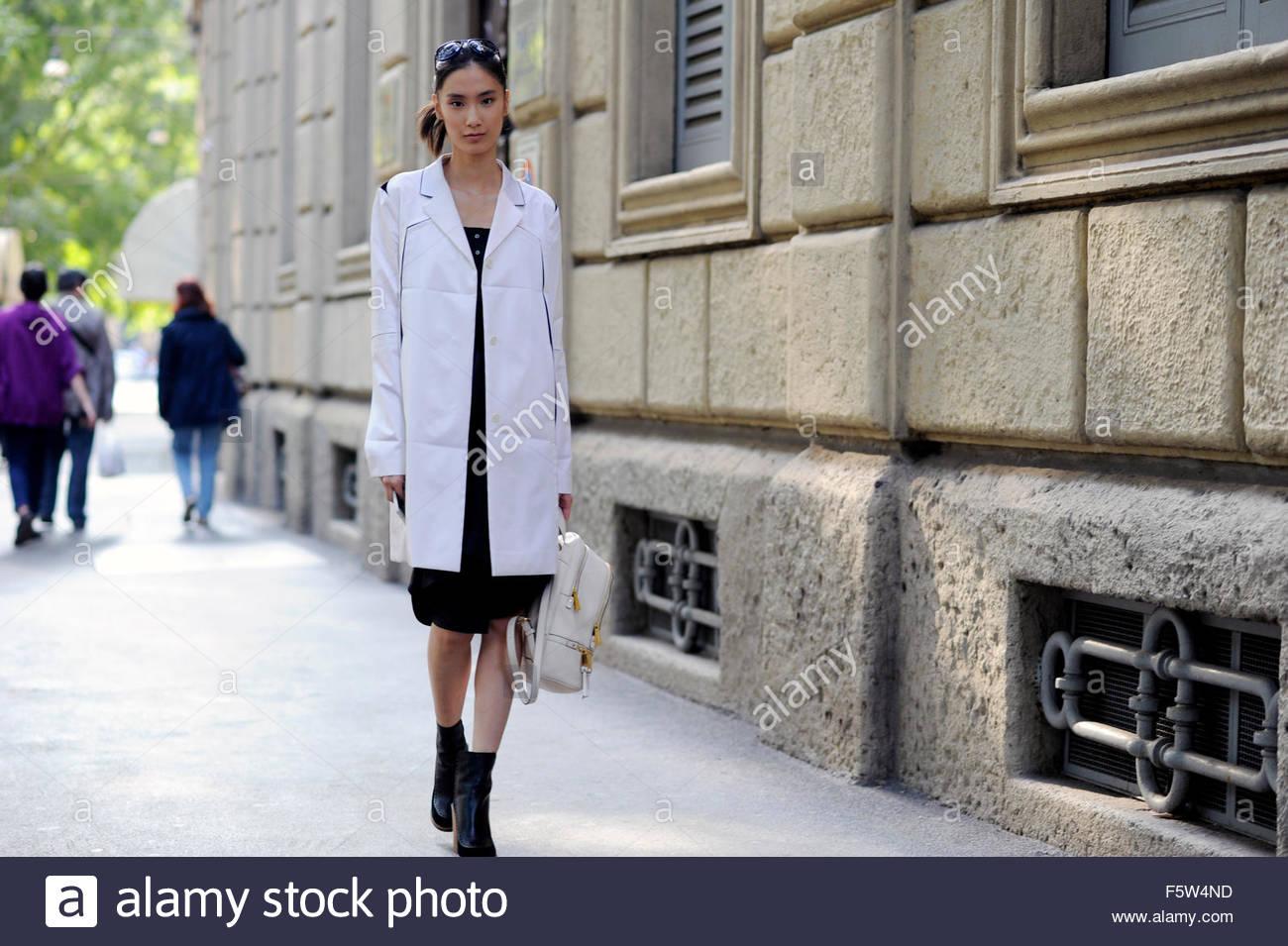 ed362d1a5 Dylan Xue Model off Duty after Jill Sander ready to wear on Via Luca  Beltrami, SS16 , Milan Fashion WeekItaly 2015.