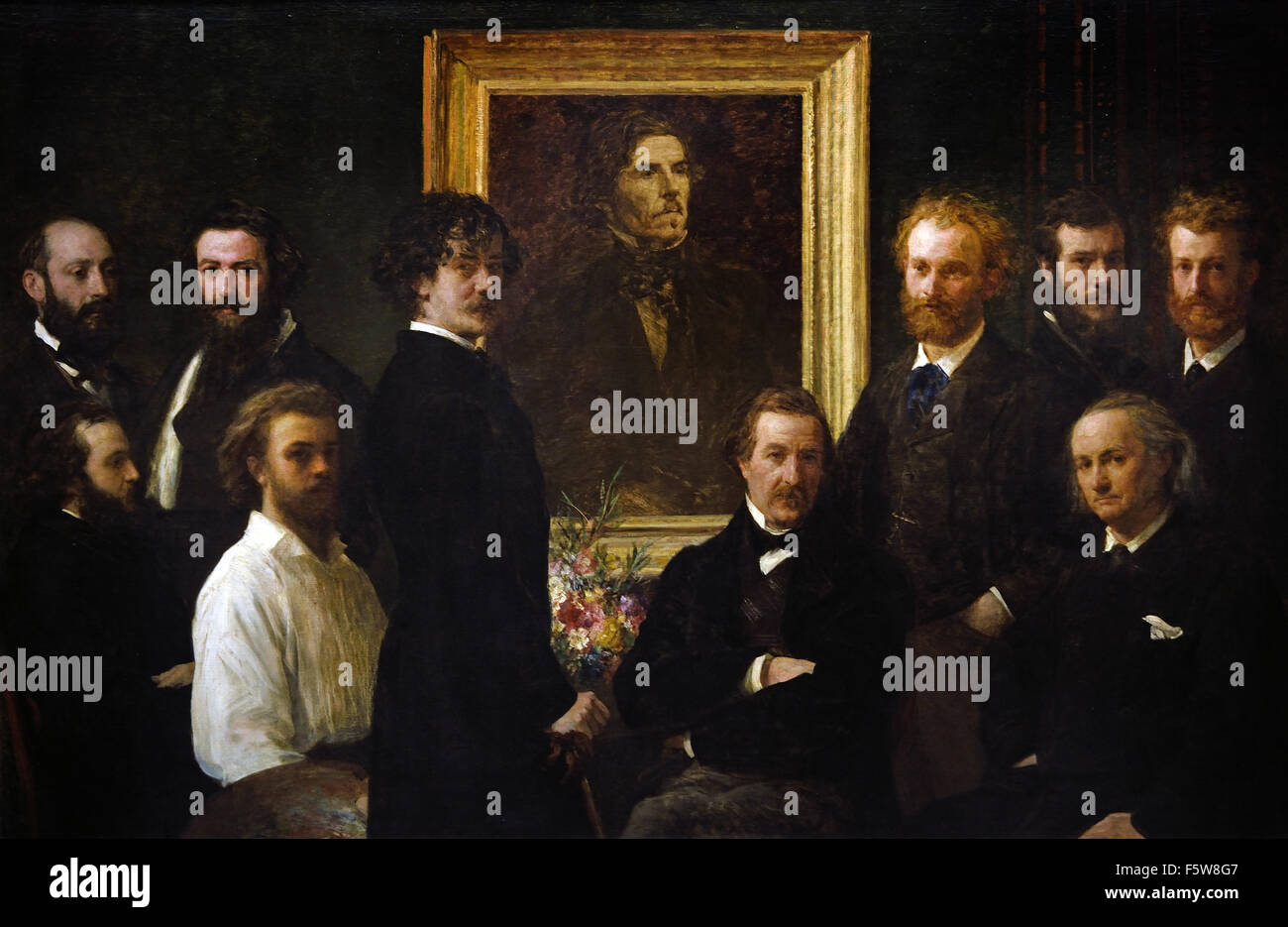 Hommage à ( Tribute to ) Delacroix 1864 Henri Fantin Latour 1836-1904 France French - Stock Image
