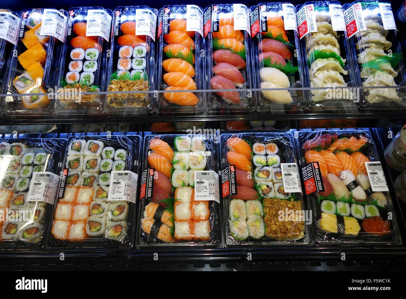 Sushi on sale - Stock Image