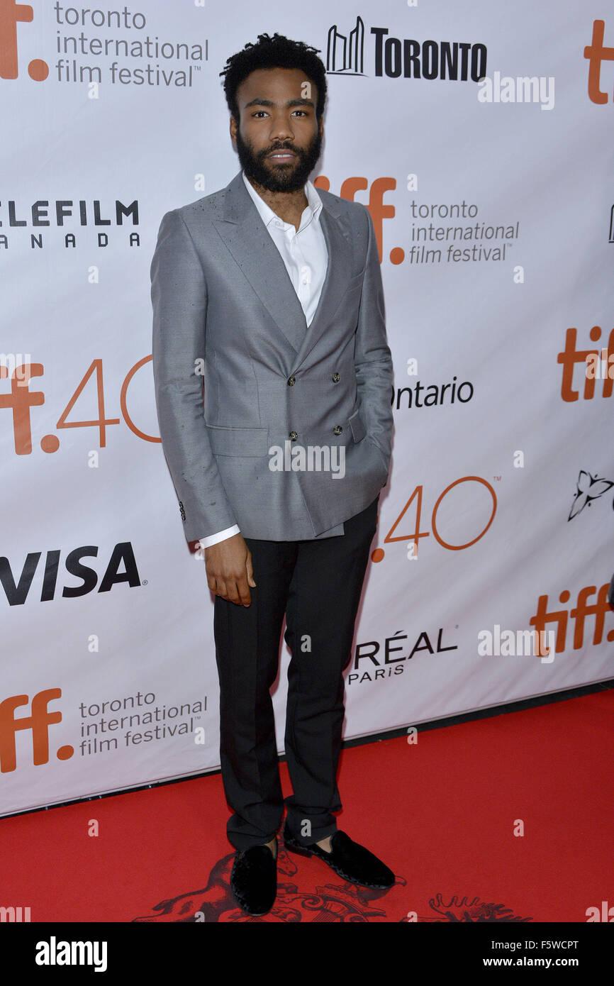 40th Toronto International Film Festival - 'The Martian' - Premiere  Featuring: Donald Glover Where: Toronto, - Stock Image