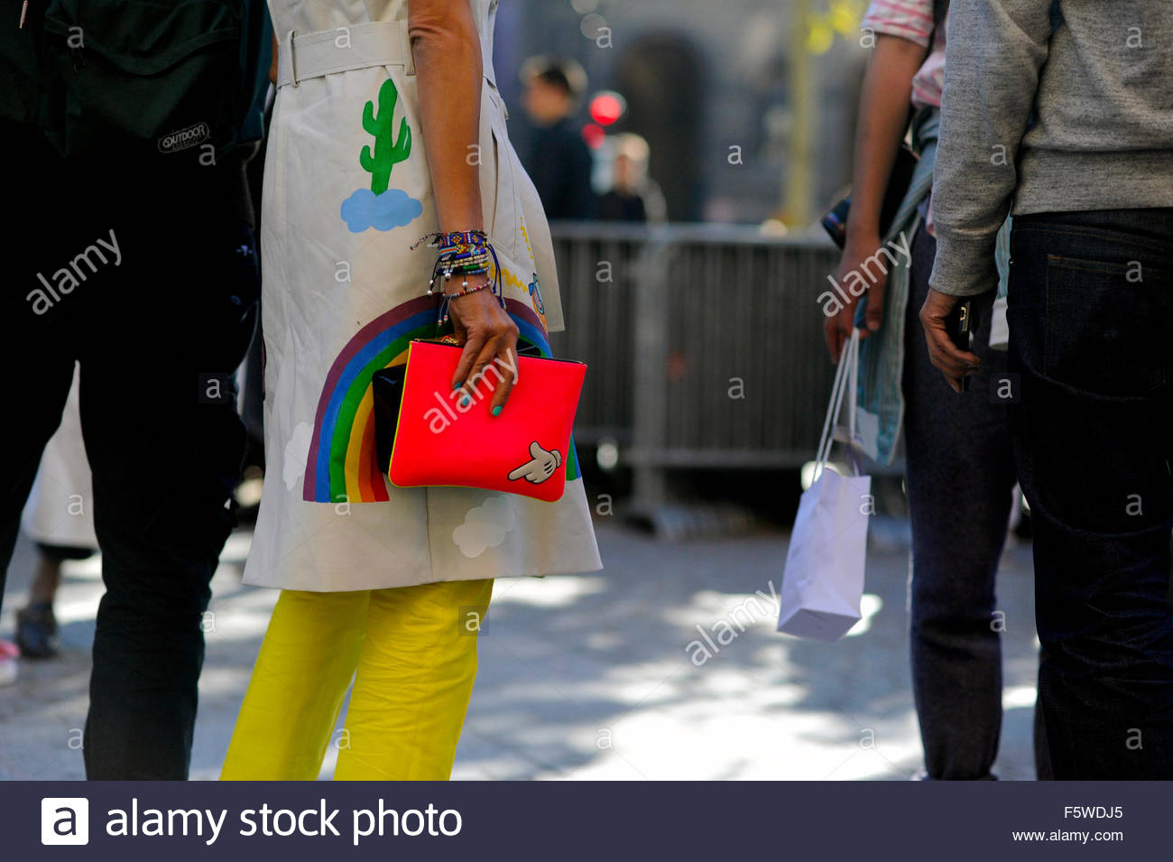 Mira Mikati after Isabel Marant ready to wear at Place Colette, Paris Fashion Week 2015 - Stock Image
