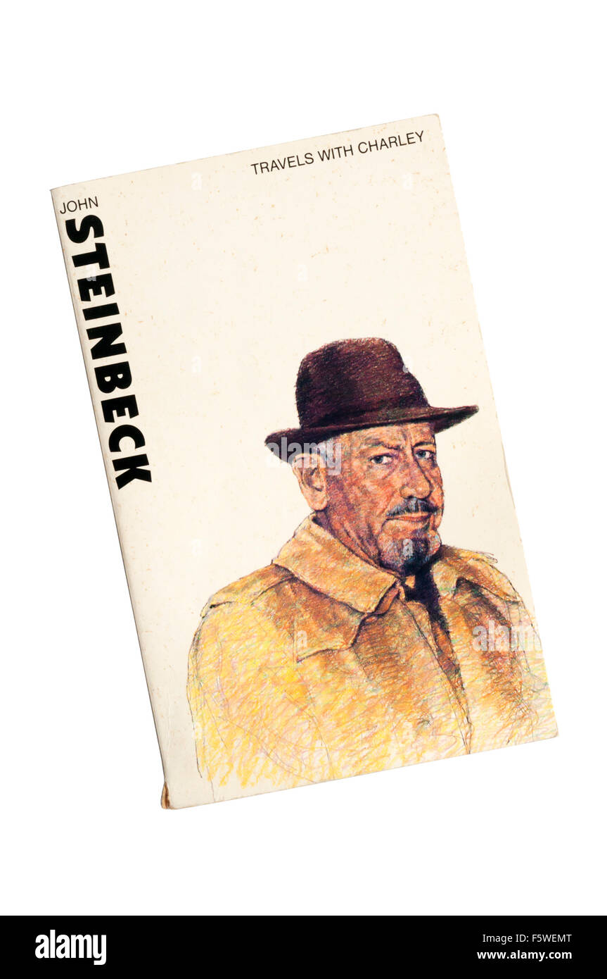 A paperback copy of Travels With Charley by John Steinbeck. - Stock Image