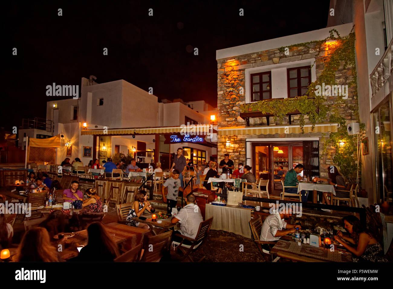 The garden restaurant at bodrum town seafront and beach in - Restaurants in garden city idaho ...