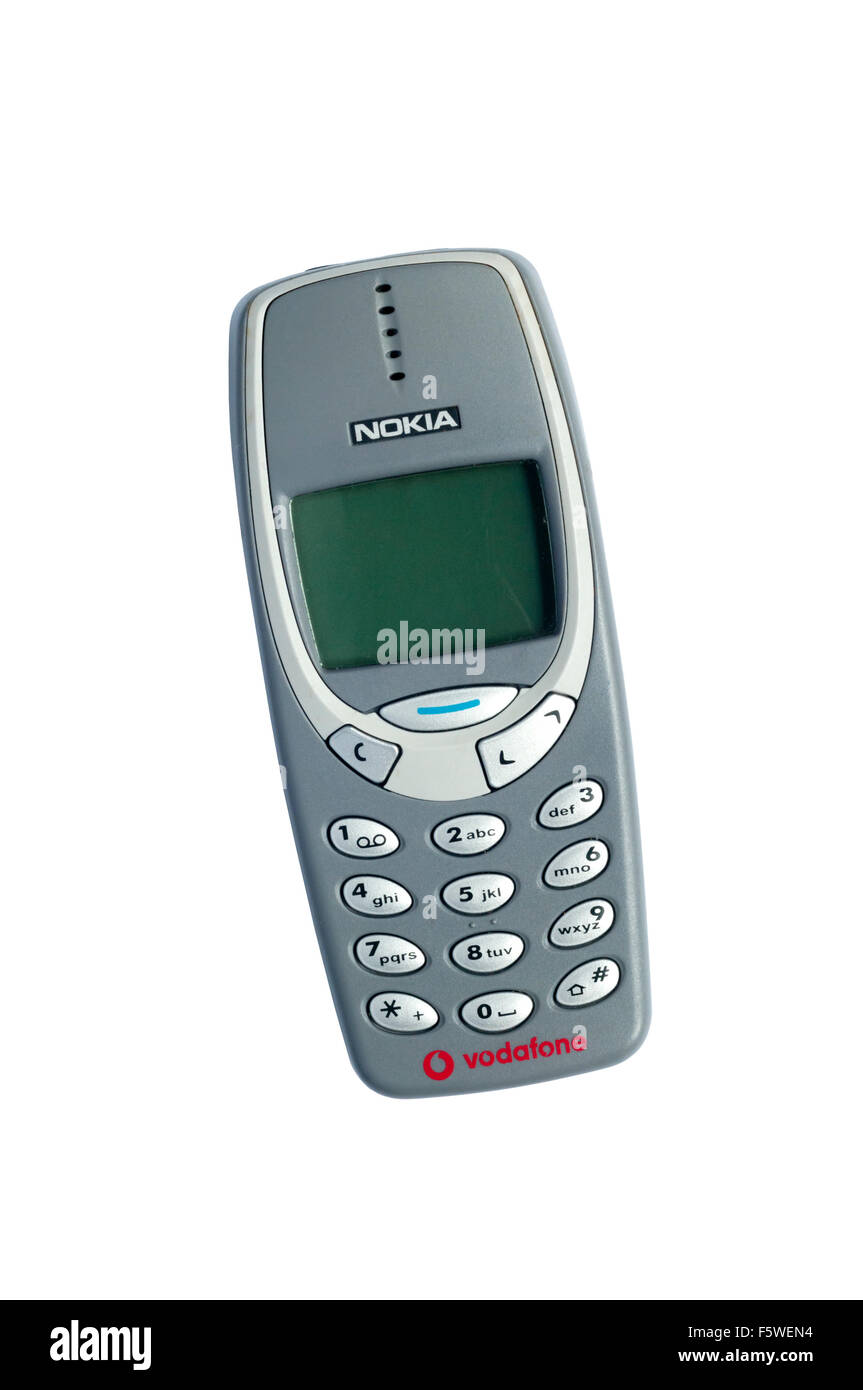 A Vodafone branded Nokia 3310 pay-as-you-go mobile 'phone. - Stock Image