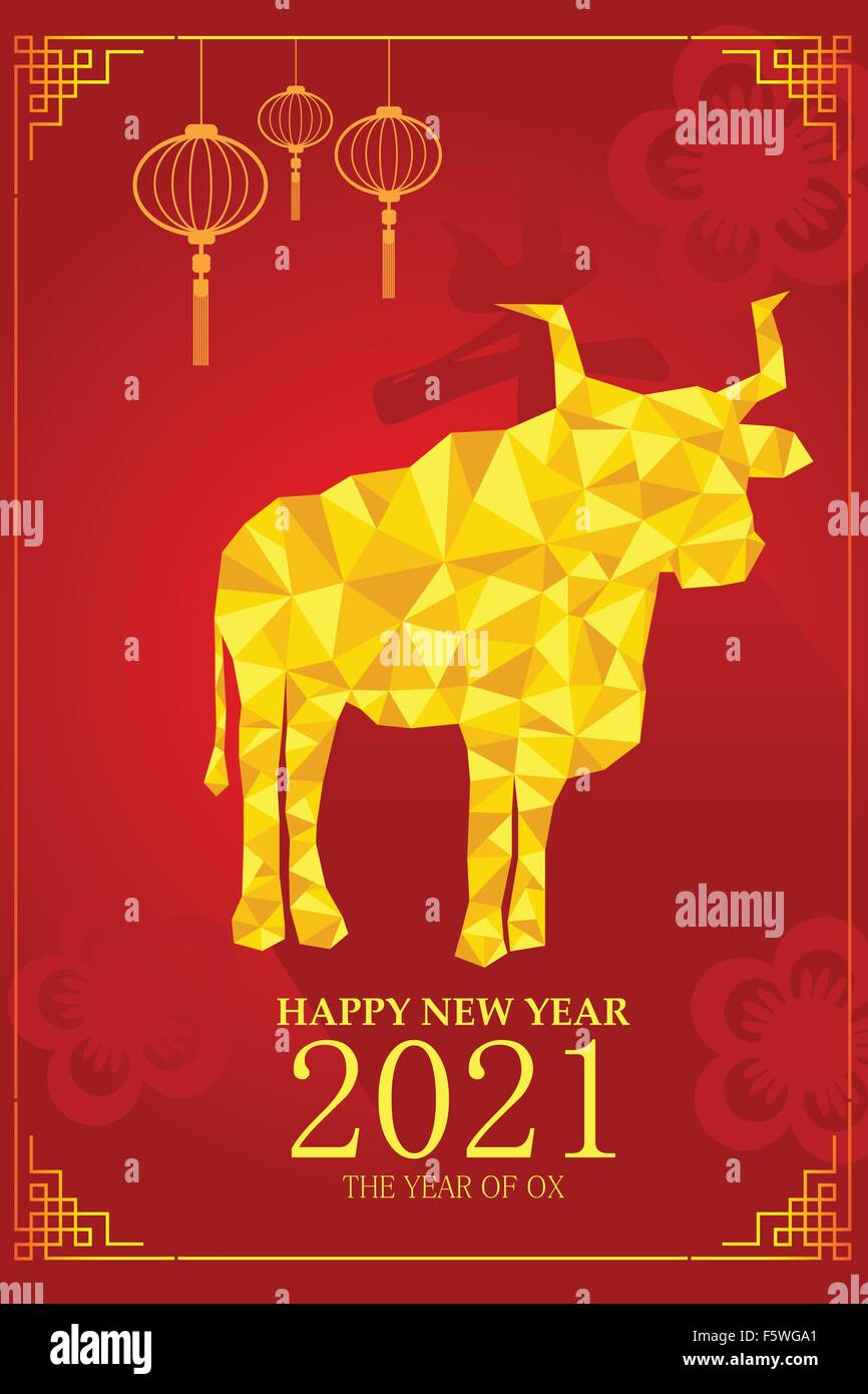 A Vector Illustration Of Year Of Ox Design For Chinese New Year Stock Vector Image Art Alamy