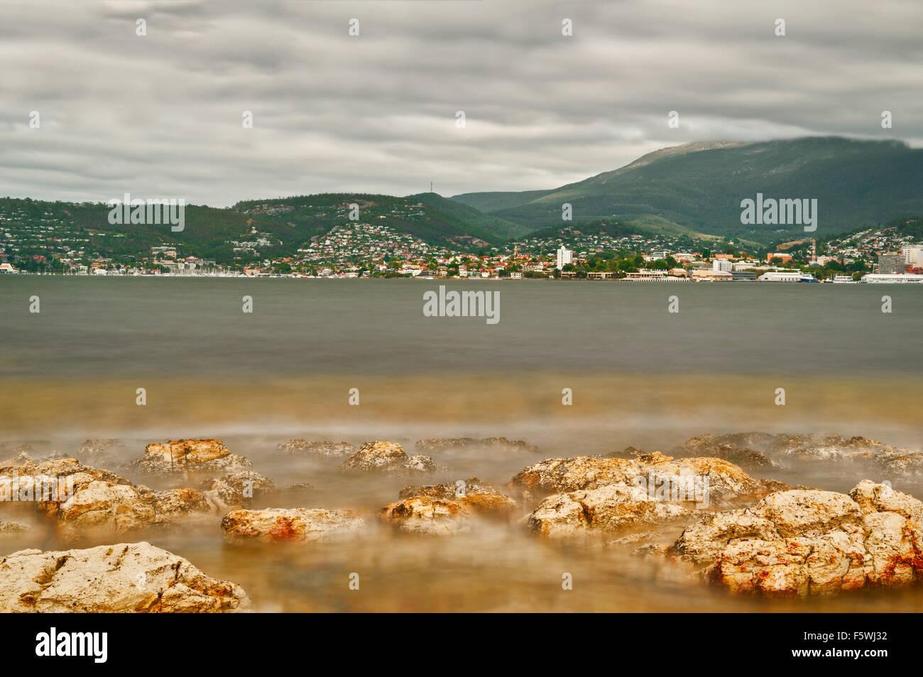 Hobart at Derwent River. - Stock Image