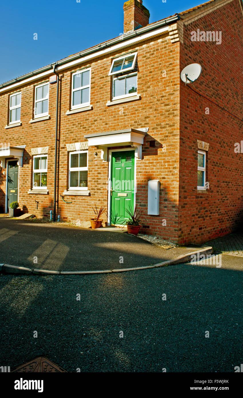 Terrace House at Fairford Leys, Aylesbury, - Stock Image
