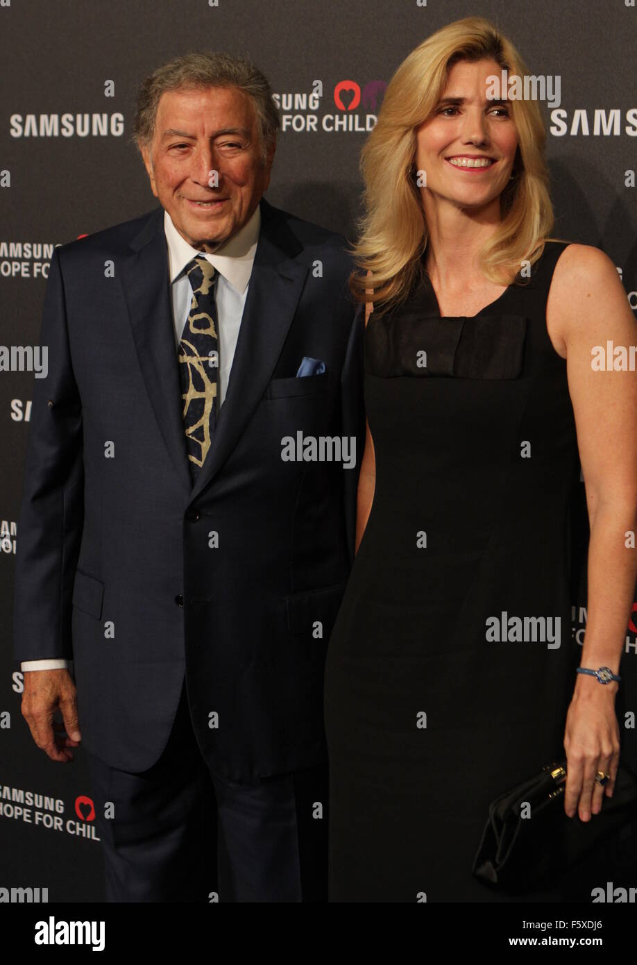 Samsung Hope For Children Gala held at the Hammerstein Ballroom - Arrivals  Featuring: Tony Bennett, Susan Crow - Stock Image