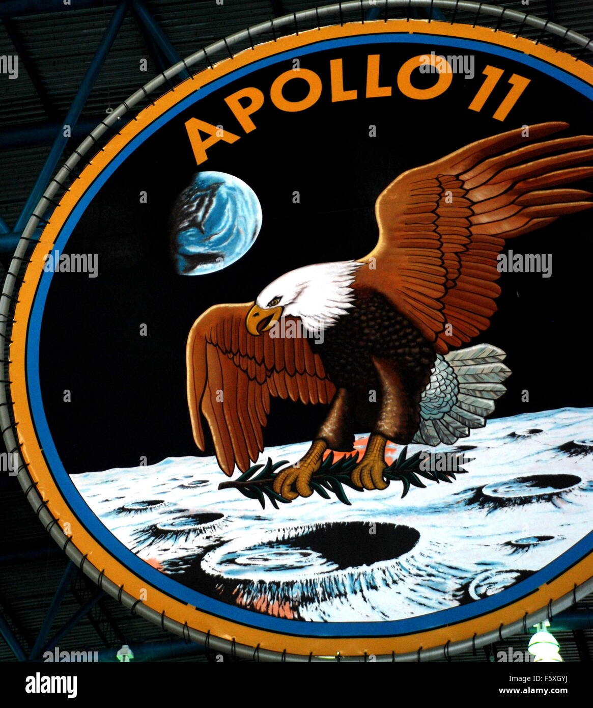 Apollo 11 Logo - Stock Image