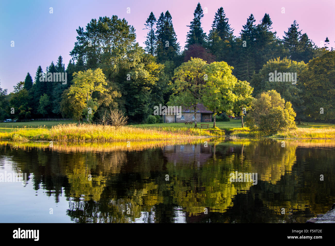 Small House In The Woods By A Lake At Killykeen Forest Park Co Cavan Ireland