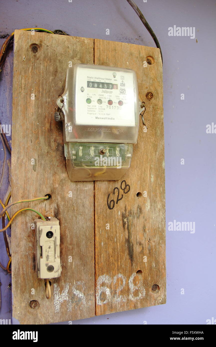 Electrical Metering system,that provide  homes for their usage information and get the bill according to the meter - Stock Image