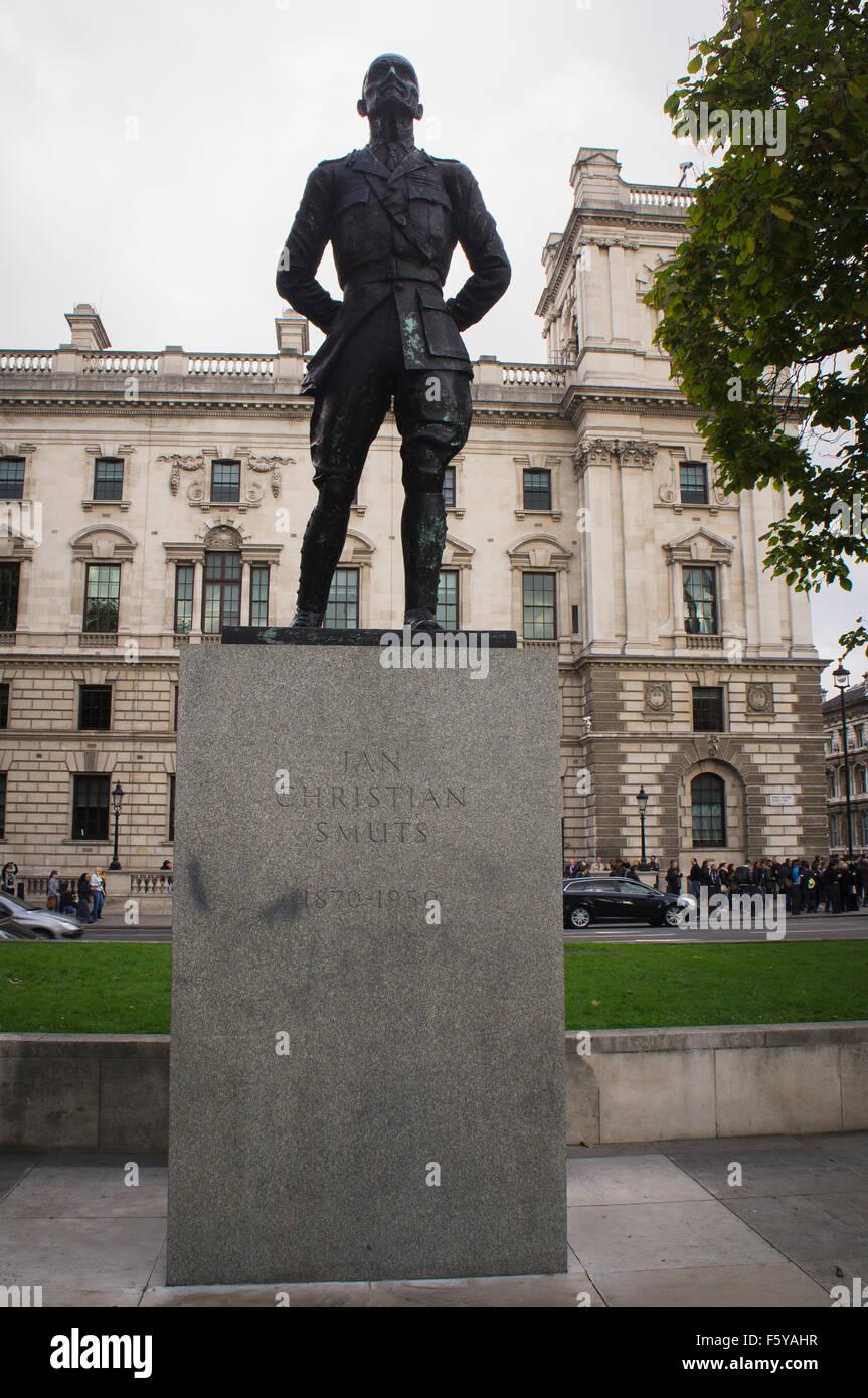 Jan Christian Smuts statue - Stock Image