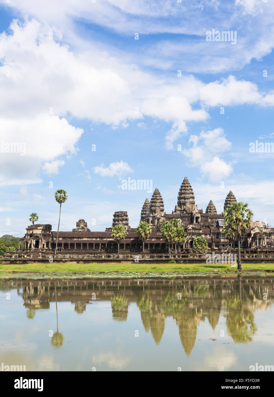 Angkor Wat is part of a stunning complex of temples and other monument near Siem Reap in Cambodia. - Stock Image