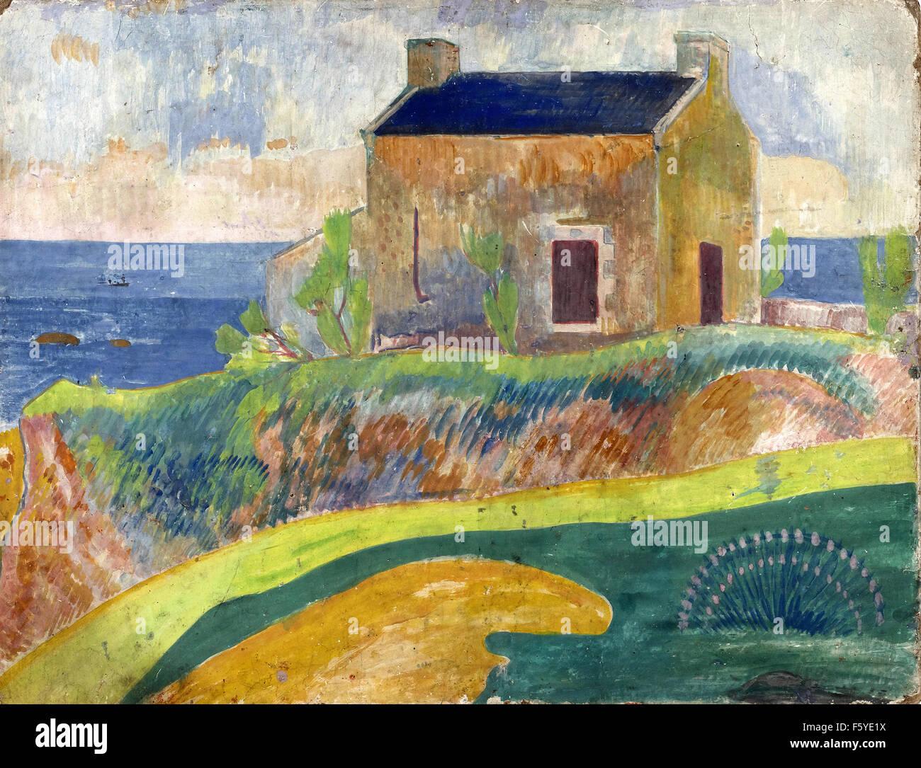 Paul Gauguin - La Maison du Pendu - Stock Image