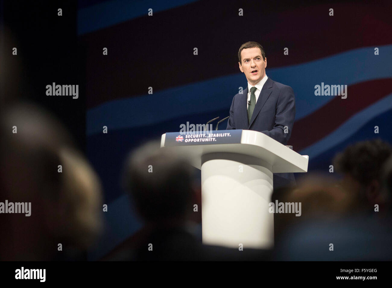The Conservative Party Conference 2015. George Osborne - Stock Image