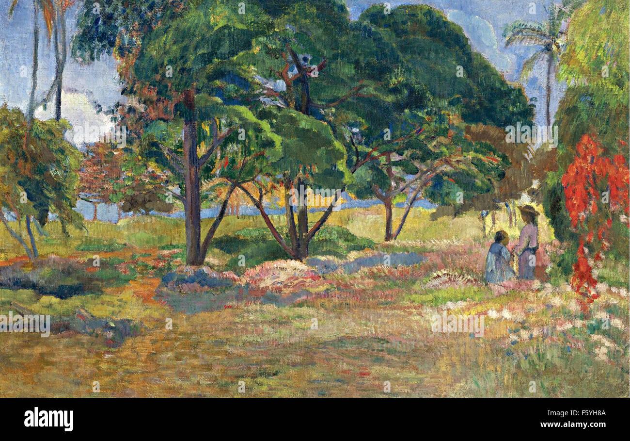 Paul Gauguin - Paysage aux Trois Arbres - Stock Image