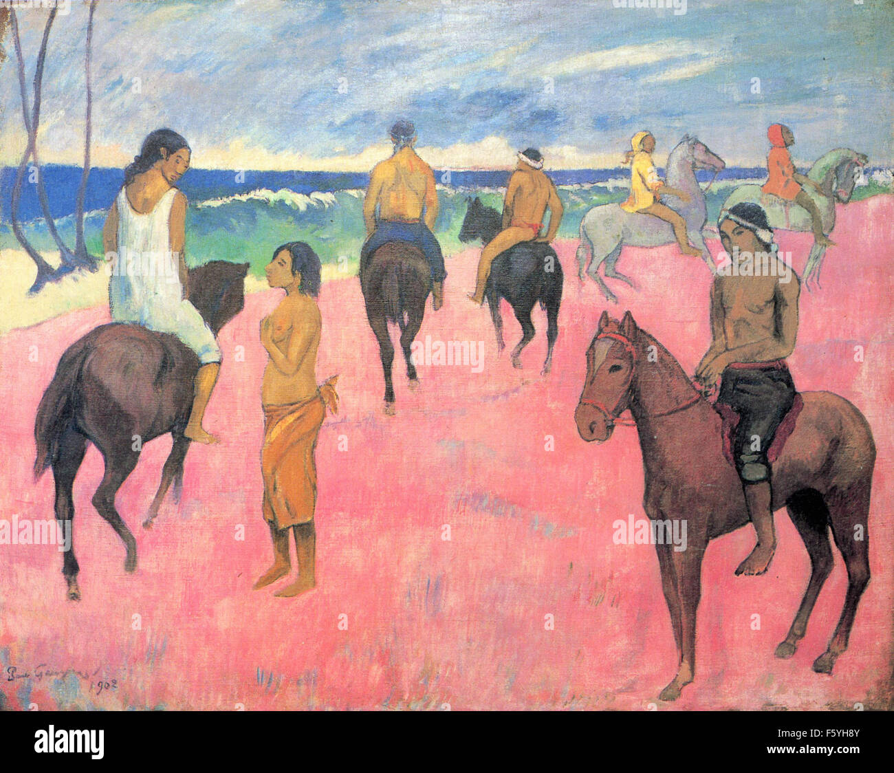 Paul Gauguin - Riders on the Beach (II) - Stock Image