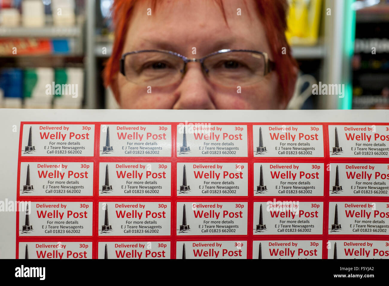 The Welly Post , Wellington , Somerset . Local newsagents Lorraine Lettley 62 and daughter Trish 37 [ not pictured] Stock Photo