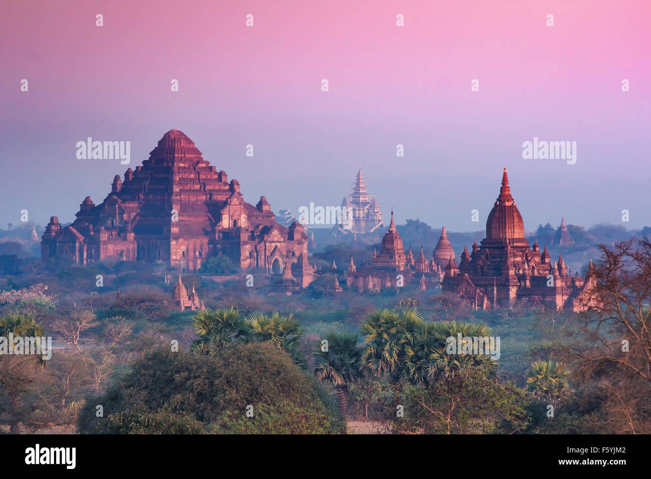 Temples in Bagan, Land of Pagoda, Myanmar Stock Photo