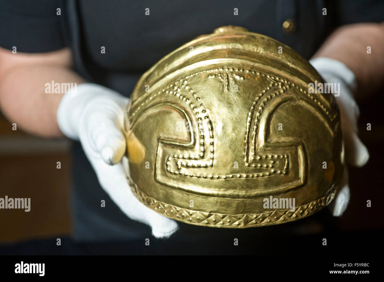 Beyond El Dorado: power and gold in ancient Colombia autumn show at the British Museum  Sponsored by Bank Julius - Stock Image